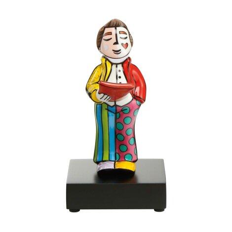 Romero Britto Pop Art Figur Sänger mit Holzsockel 17.5 cm