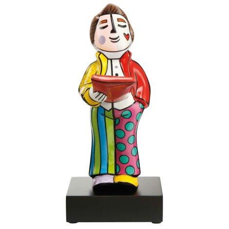Romero Britto Sänger Pop Art Figur mit Holzsockel Limitiert 35 cm
