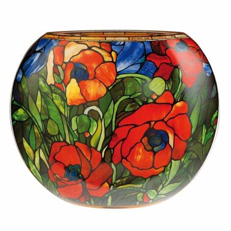 Louis Comfort Tiffany Künstler-Vase Oriental Poppy Jugendstil 35 cm