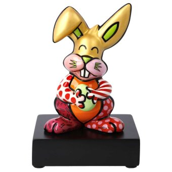 Romero Britto Hase Orange Rabbit PopArt Kunstfigur 2021