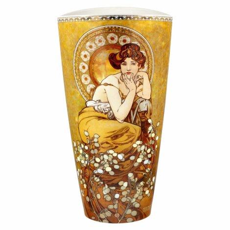 Alphonse Mucha Vase Künstlervase Blumenvase Topas 2021 28 cm