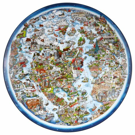 Charles Fazzino Schale Wandschale For a better world Limitiert