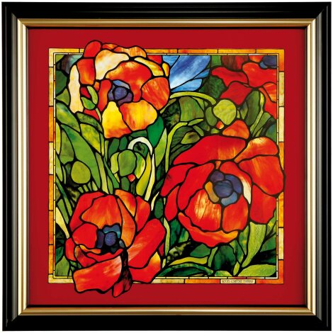 Louis Comfort Tiffany Orientalische Mohnblume Wandbild Limitiert