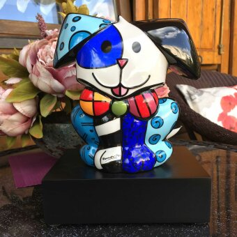 Romero Britto His Royal Highness Figur Pop Art Holzsockel