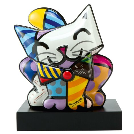 Romero Britto Katze Blue Cat Figur
