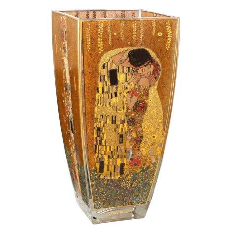 Gustav Klimt Vase Der Kuss The Kiss Glas 30 cm Echtgold-Dekor