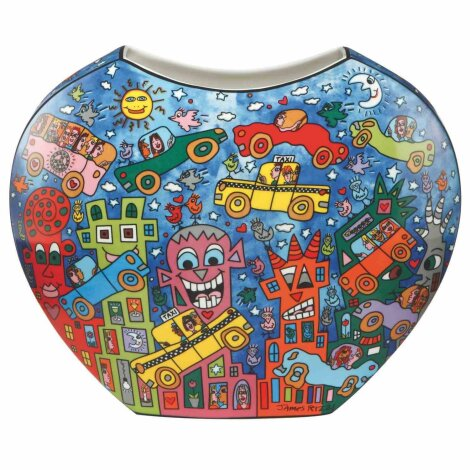 James Rizzi Not Getting Around The Traffic Vase Pop Art