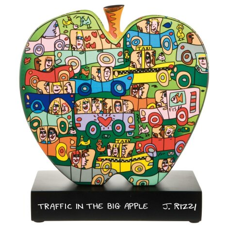 James Rizzi Traffic in the Big Apple Figur Skulptur Porzellan 31 cm