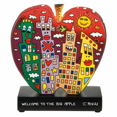 James Rizzi Welcome to the Big Apple Figur Skulptur Porzellan 19 cm
