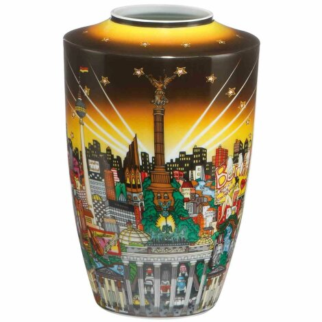 Charles Fazzino My Berlin Your Berlin Vase 3D Pop Art Porzellan 24 cm