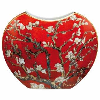 Vincent van Gogh Mandelbaum Rot Vase Porzellan 20 cm