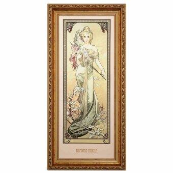 Alphonse Mucha Frühling 1900 Wandbild Die vier...