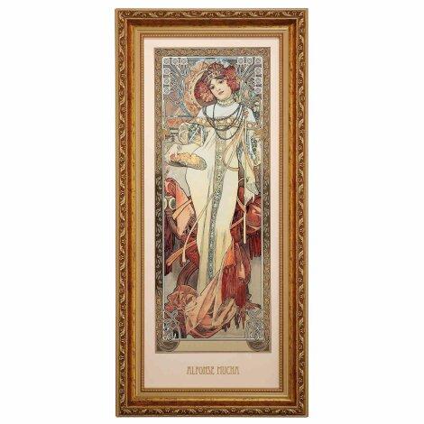 Alphonse Mucha Herbst 1900 Wandbild Die vier Jahreszeiten Limitiert