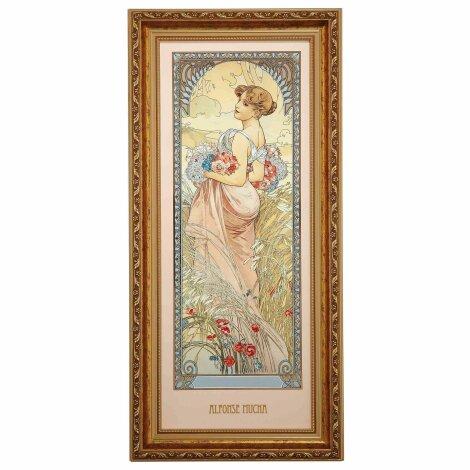 Alphonse Mucha Sommer 1900 Wandbild Die vier Jahreszeiten Limitiert