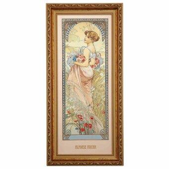 Alphonse Mucha Sommer 1900 Wandbild Die vier Jahreszeiten...