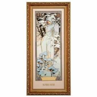 Alphonse Mucha Winter 1900 Wandbild Die vier Jahreszeiten...