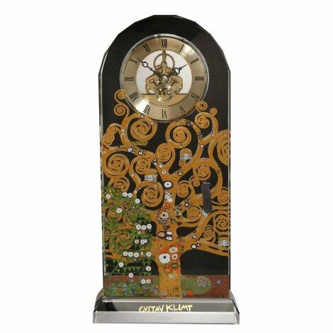 Gustav Klimt Tischuhr Der Lebensbaum sichtbares Uhrwerk