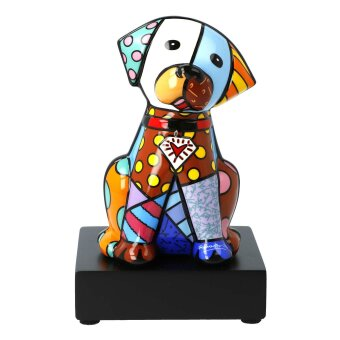 Romero Britto Hund Baby Blue Figur Pop Art 15.5 cm...