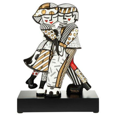 Romero Britto Golden Cheek to Cheek Pop Art Figur 2020