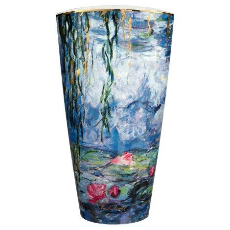 Claude Monet Vase Seerosen mit Weide 50 cm 2020