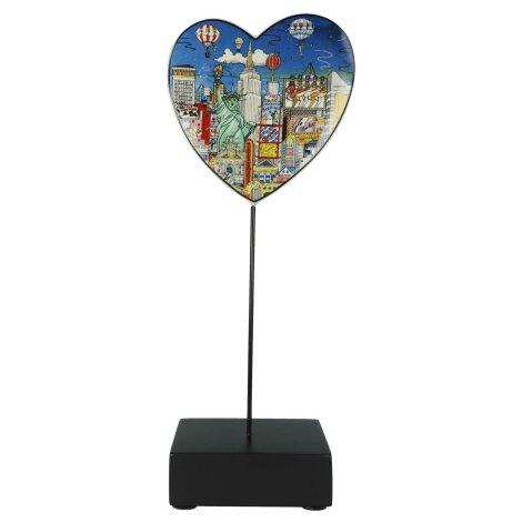 Charles Fazzino Figur Ballon ride over New York Porzellan 31.5