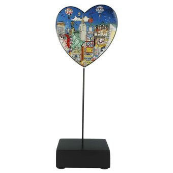 Charles Fazzino Figur Ballon ride over New York Porzellan...