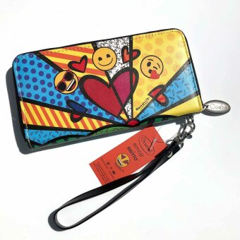 Romero Britto Pop Art Geldbörse Geldtasche A New Day