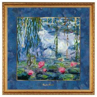 Claude Monet Seerosen mit Weide Wandbild 2020 68 cm